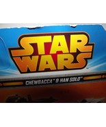 Star Wars Hot Wheels Character Car Two Pack Han Solo & Chewbacca Pkg. Da... - $10.20
