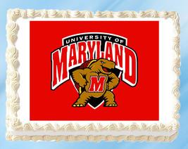 "Maryland Terrapins Edible Image Topper Cupcake Cake Frosting 1/4 Sheet 8.5 x 11"" - $11.75"