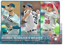 Baseball Card- 2014 American League Wins Leaders - $1.25