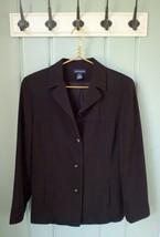 Ann Taylor Womens Size 10 Medium Solid Black Blazer Jacket Pockets Caree... - $19.34
