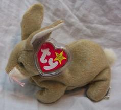 "TY Beanie Baby NIBBLY THE TAN BUNNY RABBIT 6"" STUFFED ANIMAL Toy 1999 NEW - $14.85"