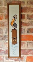 Vintage Framed Completed Needlepoint Art Pelica... - $34.29