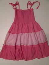 Lele for Kids Girl's Dress Sz 6X Pink Sleeveless Sparkly  #W6 - $12.99