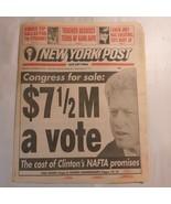New York Post November 17 1993 Congress for sale Clinton NAFTA Knicks WI... - $39.99