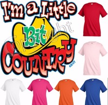 I'm  little bit Country Funny Kids T shirt Youth tee Baby Toddler bodysu... - $11.69