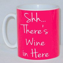Shh... There's Wine In Here Mug PERSONALISED Funny Office Work Prosecco ... - $10.01