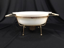 Vintage Fire King 467 1.5qt Oven Ware Casserole Dish Made In USA With Stand - $14.99