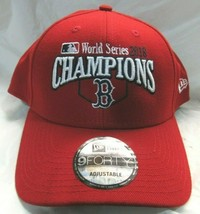 Boston Red Sox 2018 World Series Champions Red Hat Cap Adjustable New Era - $27.99