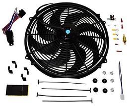 A-Team Performance Radiator Electric Cooling Fan 16inch Heavy Duty 12V Wide Curv
