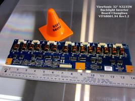 "ViewSonic 32"" N3235W Backlight Inverter Board Chunghwa VIT68001.94 Rev1.2 - $15.85"