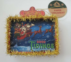 Disney Parks Mickey Mouse Tinsel Good Tidings Seasons Greetings Holiday ... - $14.80