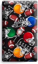 AMERICAN FOOTBALL BALLS HELMETS PHONE TELEPHONE WALL PLATE COVER BOYS RO... - $10.79
