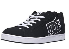 Mens DC (Black/Black/White) Net Shoes - $65.00