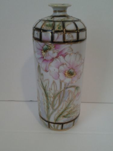 Antique Hand Painted Nippon Vase With Pink And 50 Similar Items