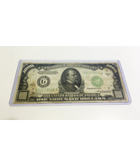 1934 $1000 ONE THOUSAND DOLLAR BILL Federal Reserve Note - $2,900.00