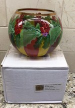 MacKenzie-Childs Holly and Berry GLOBE VASE  - $35.00