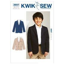 Kwik Sew K3697 Blazer Sewing Pattern, Size XS-S-M-L-XL - $15.68