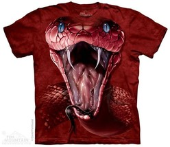 THE MOUNTAIN RED MAMBA FACE SNAKE FANGS VIPER POISONOUS T TEE SHIRT S-5XL - $19.50+