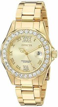 Invicta Women's Ladies Watch Pro Diver Quartz Stainless Steel Yellow Gold New - $129.99