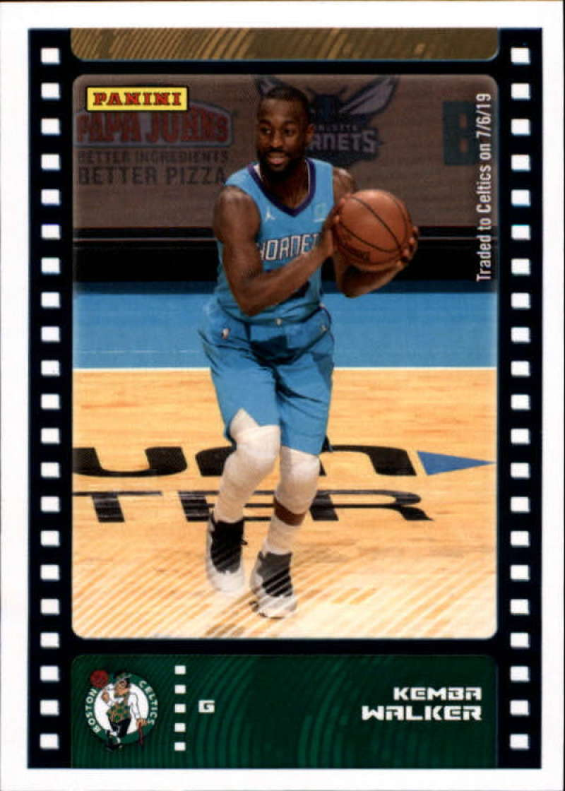 Primary image for 2019-20 Panini NBA Sticker Box Standard Size Insert #41 Kemba Walker Boston Celt