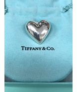 TIFFANY & CO. Sterling Silver Puffy Heart Brooch Pin-FREE SHIPPING and I... - $135.00