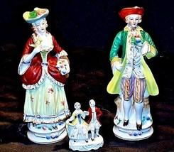 Colonial Elizabeth Figurine AA18-1270Vintage Couples - $69.25