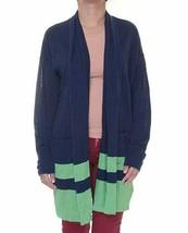 Lauren Ralph Lauren Women's Linen Blend Open-Front Cardigan Sweater, Nav... - $26.39 CAD