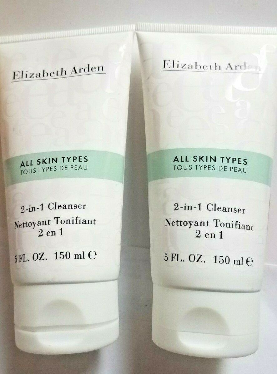 Primary image for 2 x Elizabeth Arden 2-in-1 Cleanser All Skin Types 5 oz 2 Tubes
