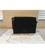 michael kors rachel xl satchel leather black bag 30t6tr4s9l - $325.29