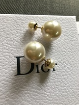 Authentic Christian Dior 2017 Mise En Dior Tribal CLASSIC Pearl Earrings MINT