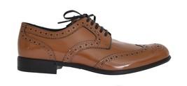 Dolce & Gabbana Women Brown Leather Wingtip Formal Shoes EU39/US8.5 - $203.52