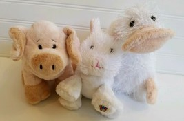 Ganz Webkinz 3 Plush Toys - Googles, Floppy Pig & Rabbit - No Codes - $4.37