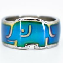 Baby Elephant Shape Children's Color Changing Fashion Mood Ring image 4