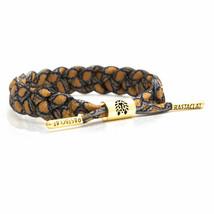 Rastaclat Papuan Brown Orange Gold Braided Shoelace Bracelet Wristband RC001BMBR