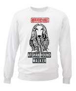 Afghan hound - official walker - NEW WHITE COTTON SWEATSHIRT - $30.65