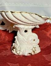 Vintage Pearlescent Porcelain Fish Seashell Soap Dish Arnartcreation japan