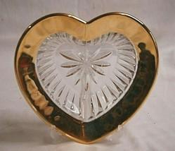 Mikasa Desire Gold Heart Shape Valentines Candy Dish Bon Bon Centerpiece... - $26.72