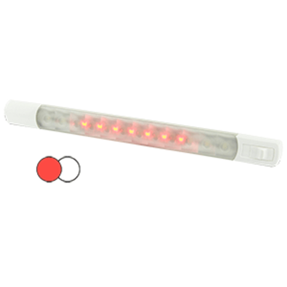 Primary image for Hella Marine Surface Strip Light w/Switch - White/Red LEDs - 12V