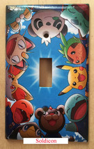Pokemon Pikachu Friends Light Switch power Outlet Wall Cover Plate Home Decor