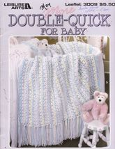 Double Quick For Baby Afghans for Babies 9 Crochet Designs Carole Prior - $9.00