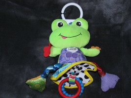 LAMAZE FROG BABY CLIP ON LINK RING DEVELOPMENTAL TOY CHIME RATTLE CRINKL... - $24.74