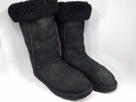 UGG Classic Tall Black Sheepskin Boots Size 10 M (B) EU 41 Model # 5815