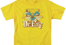 Dr Fate T-shirt retro 80s DC comic book cartoon superhero gold tee DCO682 image 3