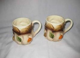 """Nice Pair 3 1/2"""" HOMCO Mushroom Coffee Mugs - $24.01"""