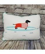 "HipStyle Oscar Surfboard Dachshund Wiener Dog Oblong Throw Pillow 13""X18... - £33.49 GBP"