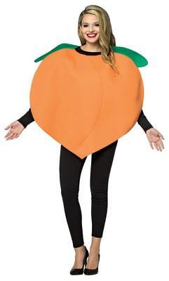 Peach Costume Adult Women Men Tunic Orange Food Fruit Halloween Unique GC6310
