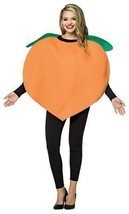 Peach Costume Adult Women Men Tunic Orange Food Fruit Halloween Unique G... - £39.44 GBP