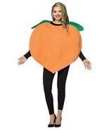 Peach Costume Adult Women Men Tunic Orange Food Fruit Halloween Unique G... - €42,11 EUR