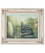 """"""" Monets Garten 1 """" Von Anthony Sidoni 2003 Unterzeichnet Ölgemälde 40cmx18 - $5,442.71"""