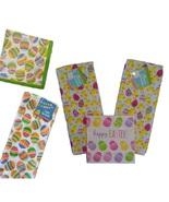 EASTER LINENS TOWEL NAPKINS Set 3 Towels 36 Paper Napkins Eggs Chicks Ho... - $16.99